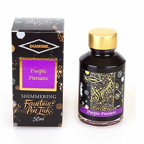Diamine Fountain Pen Bottled Ink, 50ml - Shimmering Purple (Purple Fountain Pen Ink)