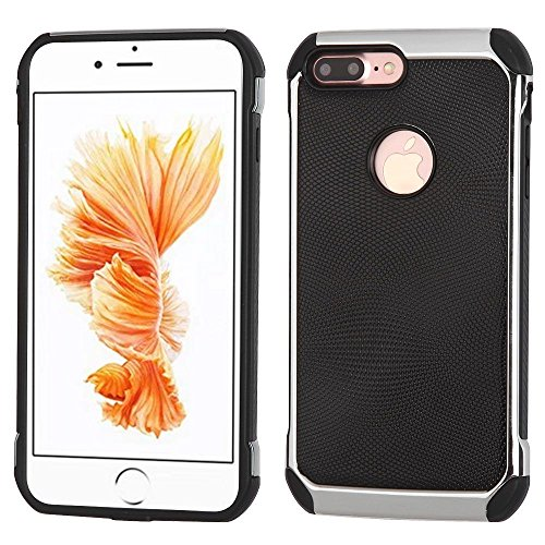 iPhone 7 Plus Case, Mybat Dual Layer [Shock Absorbing] Protection Hybrid PC/TPU Rubber Case Cover For Apple iPhone 7 Plus, Black/Silver