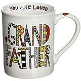 "Our Name is Mud ""Loved Grandfather"" Porcelain Mug, 16 oz."