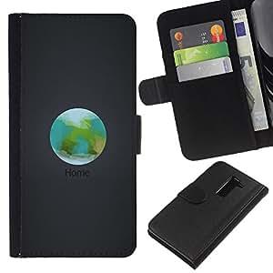 JackGot ( Orbit Inicio La Tierra ) LG G2 D800 la tarjeta de Crédito Slots PU Funda de cuero Monedero caso cubierta de piel
