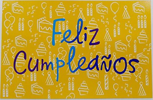 - Feliz Cumpleanos - De Un Ano Espectacular / Happy Birthday Have a Spectacular Year Greeting Card in Spanish (Unisex)