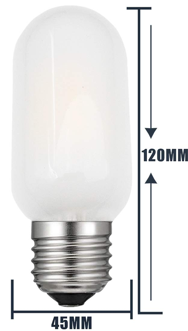 20W Incandescent Bulbs Replacement iRotYi Dimmable 2W AC 120V LED Filament Light Frosted Tube Bulbs T45 6-Pack E26 Base Lamp Warm White 2700 Kelvin 200LM