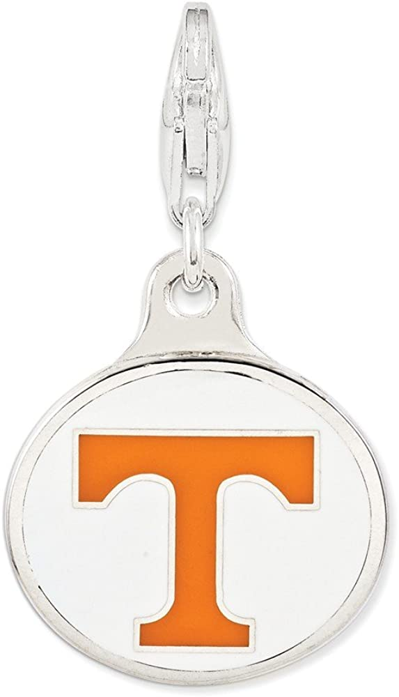 Sterling Silver Enamel University of Tennessee with Lobster Clasp Necklace