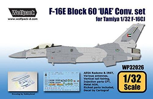 Wolfpack 1:32 F-16E BLock 60 UAE Conversion Set for Tamiya Kit - Resin #WP32026 ()