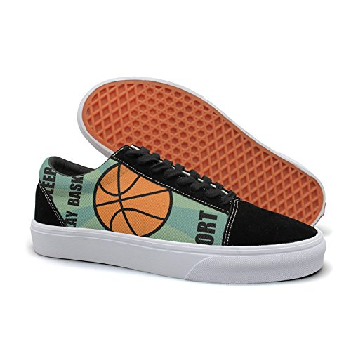 T-RALLO Men's Skate Shoes Eat Sleep Play Basketball Sport Game Casual Sports Shoes Printed Cool Design Lightweight Shoes