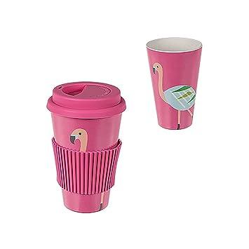 Preis Am Stiel 1 X Becher Mit Deckel Bamboo To Go Flamingo