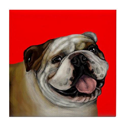 CafePress - English Bulldog - Tile Coaster, Drink Coaster, Small Trivet