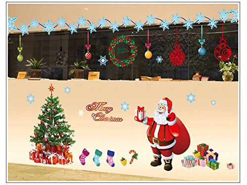 Amazon.com: DIY Christmas Window Stickers Decorations- Merry Xmas ...