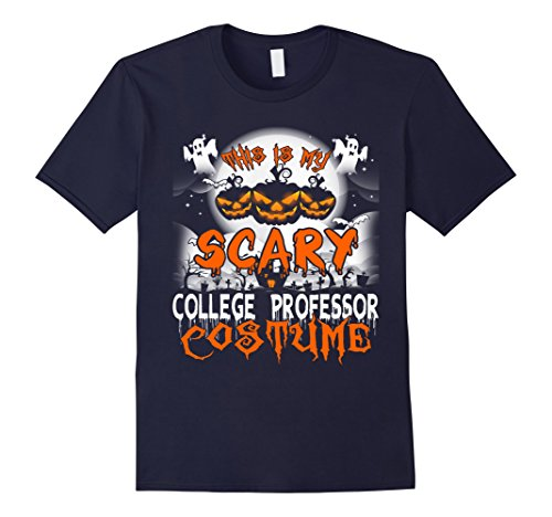 Mens This is My Scary College Professor Costume Halloween Shirt XL Navy
