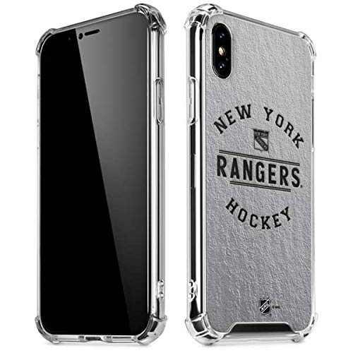Skinit New York Rangers Black Text iPhone X/XS Clear Case - Officially Licensed NHL Phone Case Clear - Transparent iPhone X/XS Cover