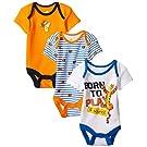 Disney Baby Boys'  Tiger 3 Pack Bodysuit, Multi, 6-9 Months
