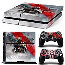 Ps4 Playstation 4 Console Skin Decal Sticker GOW + 2 Controller Skins Set