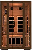 JNH Lifestyles Freedom 2 Person Canadian Western Red Cedar Wood Far Infrared Sauna