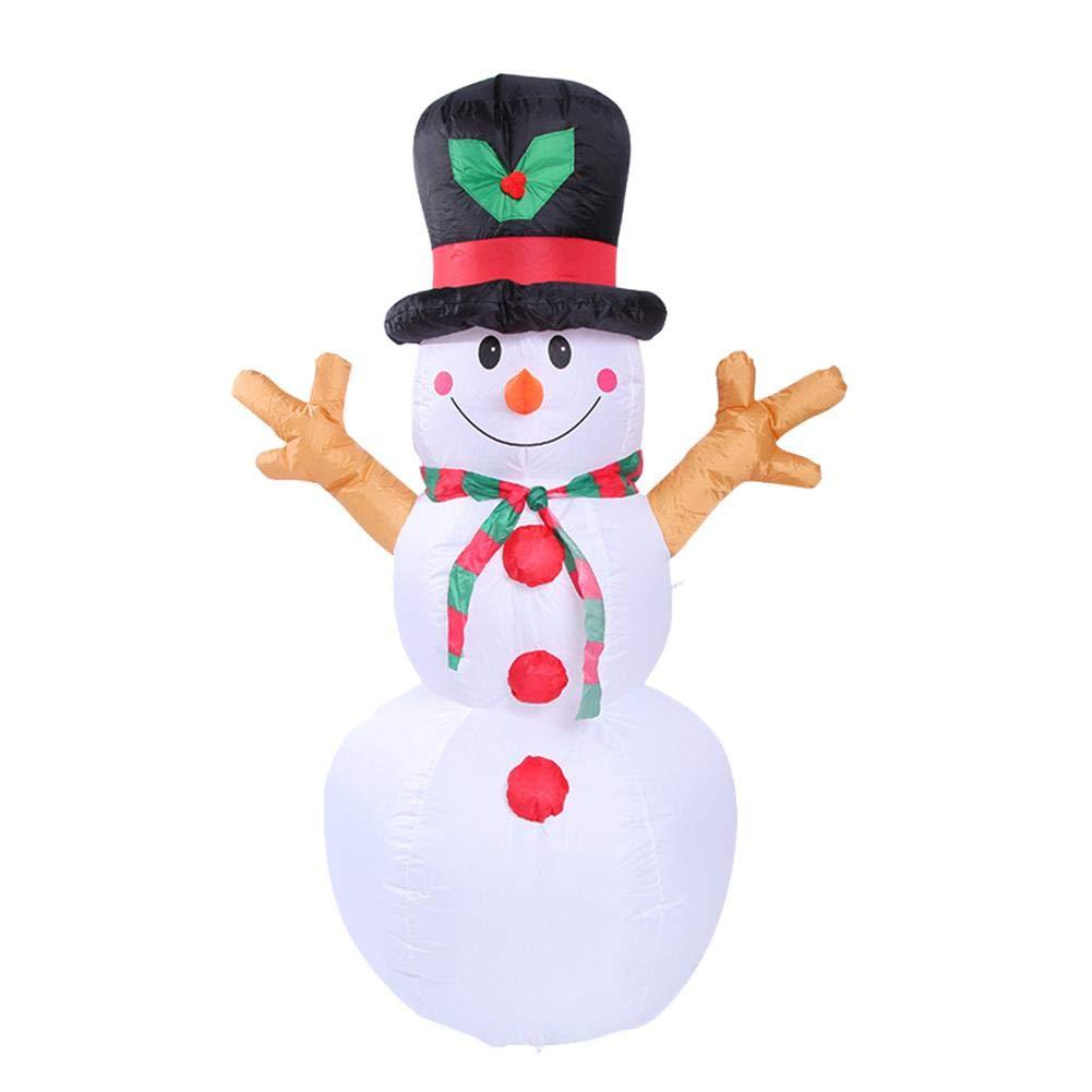 Biback 1.6M / 5.25feet Gonfiabile Natale Pupazzo di Neve Modello Decorazione Giardino di Natale Regalo Pupazzo di Neve Bambola Indoor Outdoor Decorazione Cortina Pupazzo di Neve Modello + Fan