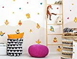 I-love-Wandtattoo WAS-12696 Children's room wall tattoo set''Sweet chicks as a chicken family with hearts and playful decorations'' boys room girls room deco figures baby room garden animals