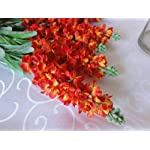 Lily-Garden-Set-of-6-Stems-32-Artificial-Antirrhinum-Snapdragon-Silk-Flowers-Tangerine