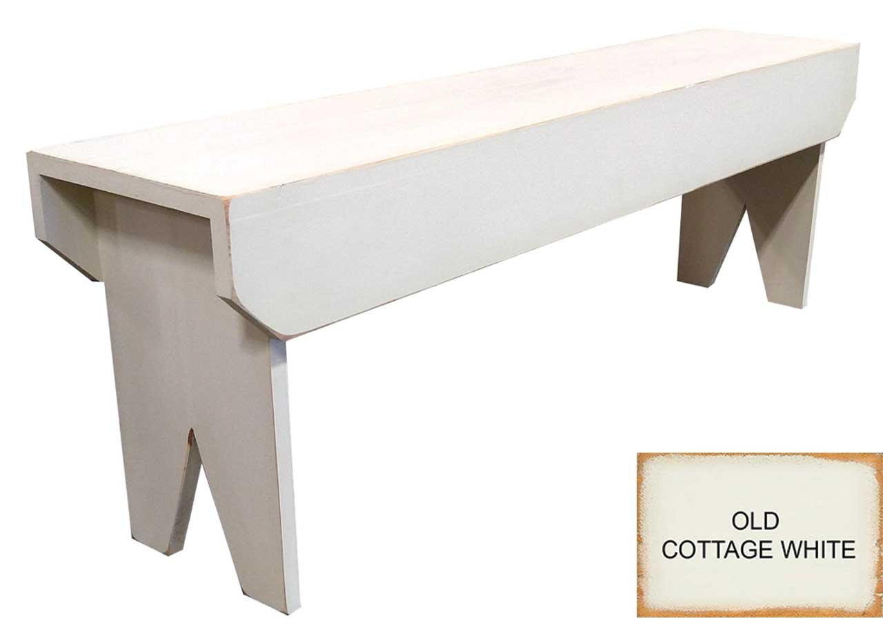 Amazon.com   Sawdust City 4 Foot Wood Bench (Old Cottage White)   Table  Benches