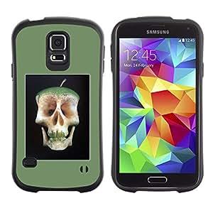 Paccase / Suave TPU GEL Caso Carcasa de Protección Funda para - Apple Core Skull Doctor Away Life - Samsung Galaxy S5 SM-G900