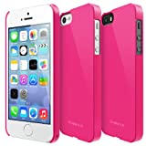 iPhone SE / 5S / 5 Case, Ringke [SLIM] Snug-Fit Slender [Tailored Cutouts] Ultra-Thin Superior Coating PC Hard Skin cover for Apple iPhone SE (2016) / 5S (2013) / 5 (2012) - LF Pink