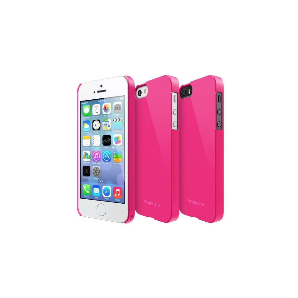 iPhone SE / 5S / 5 Case, Ringke [SLIM] Snug Fit Slender [Tailored Cutouts] Ultra Thin Superior Coating PC Hard Skin cover for Apple iPhone SE (2016) / 5S (2013) / 5 (2012)   LF Pink