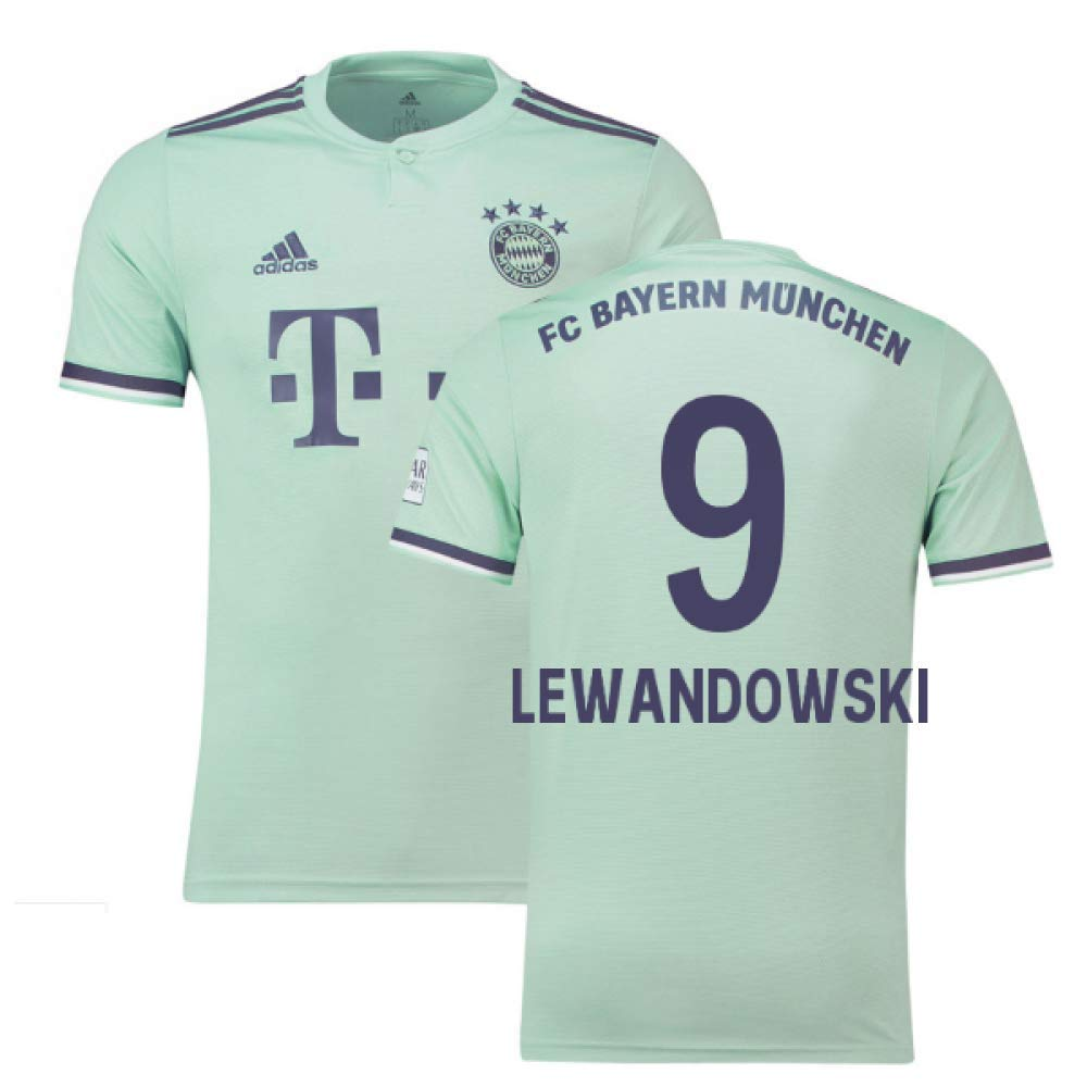 2018-19 Bayern Munich Away Football Soccer T-Shirt Trikot (Robert Lewandowski 9)