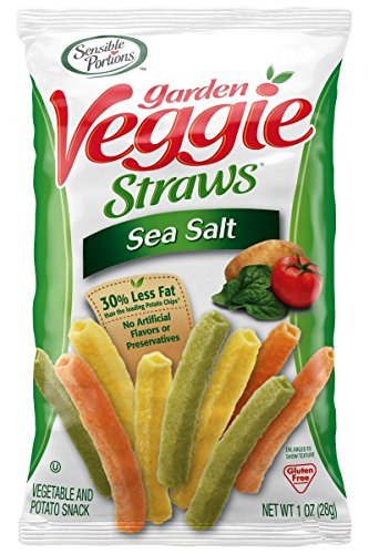 Sensible Portions Garden Veggie Straws, Sea Salt, 1 oz. (Pack of 8)