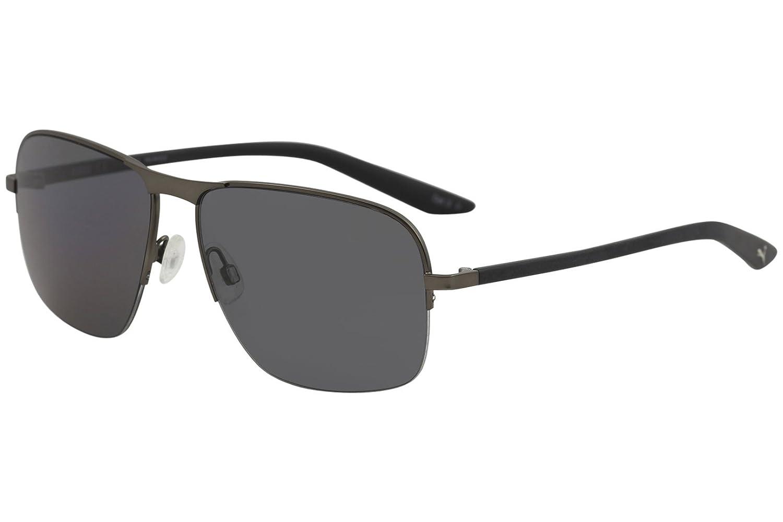 Puma PU0120S 001 Gafas de Sol, Gris (001-Ruthenium/Grey), 59 ...