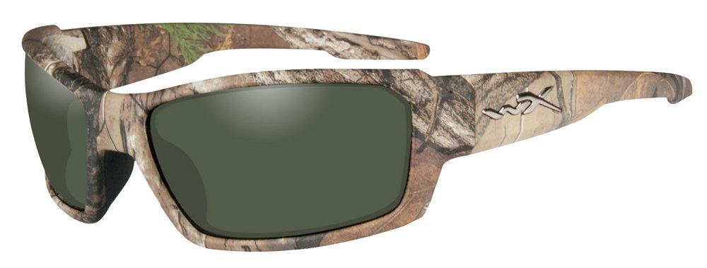 Rebel Camo Shooting Polarized Smoke Green Sunglasses