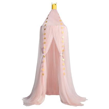 Mosquitera de Dosel de la Cama con Encaje Elegante Cama Princesa Mosquitera Anti-Insectos para