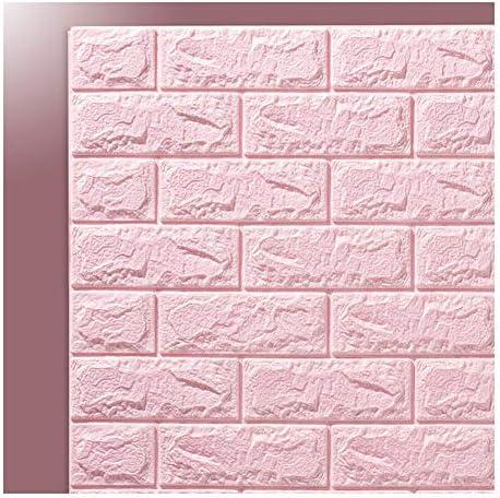 壁紙アプリ取り外し可能な壁紙の皮とスティックの壁紙 ルームの壁紙装飾テレビの背景の壁ペーパーステッカー壁紙ダイニング自己接着3Dウォールステッカー壁紙リビングルームのベッドルーム (Color : Pink, Size : Monolithic)