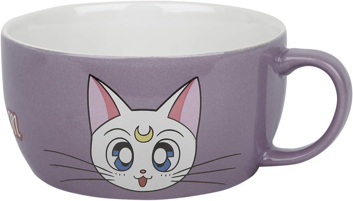 Sailor Moon Luna /& Artemis Mug Set Multicolour