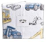 Boy Zone 4-pc Construction Trucks Cotton Quilt & Sheet Set - Twin Size Set
