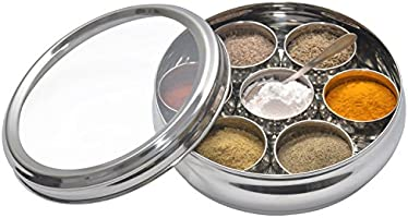 MASALA BOX SPICE CONTAINER WITH SEE THROUGH LID VERY HIGH