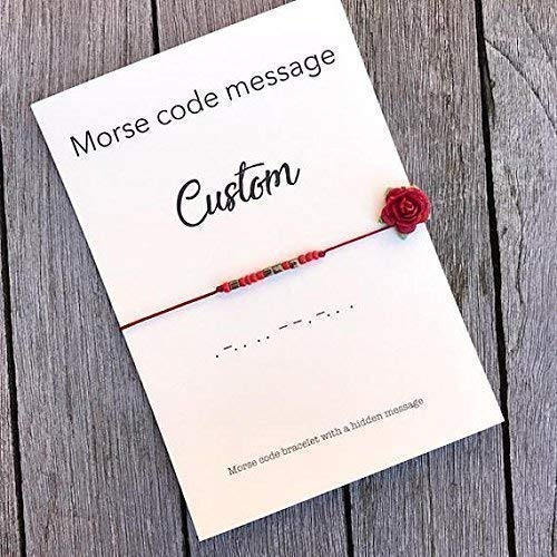 Morse code bracelet, FREE GIFT WRAP, Message bracelet, Morse code jewelry,  Custom bracelet, Morse code, Best friend gift, Best friend bracelet, A80