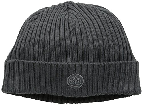 Timberland Men's Fitted Knit Watch Cap, Gray, One Size Basic Logo Knit Cap