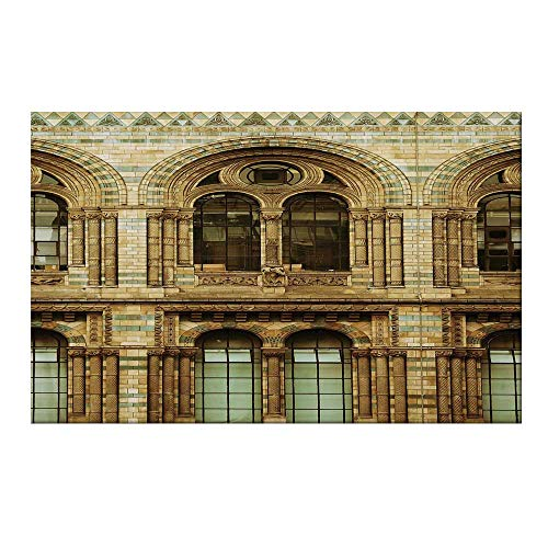 YOLIYANA Urban Durable Door Mat,Historical Architecture European City Building in London British Culture Art Photo Print for Home Office,17.7
