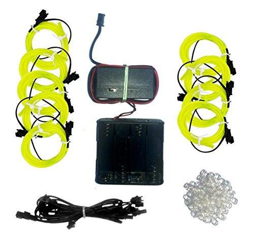 Glow Stickman Set - EL Wire (Lime) by elwirecraft