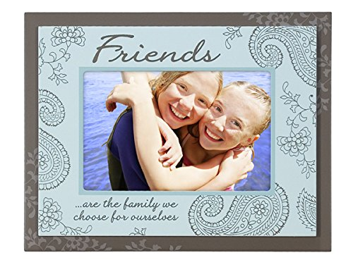Malden International Designs Friends Double Layer Wood Picture Frame, 4x6, Brown Friends Frame