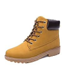 Men's Premium Monochrome Leather Insulated and Water Resistant Wheat Nubuck Work Boots