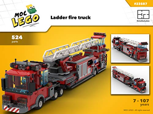 Used, Ladder fire truck (Instruction Only): MOC LEGO for sale  Delivered anywhere in Canada