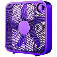 Vibrant Purple Color 20 Box 3-Speed Fan