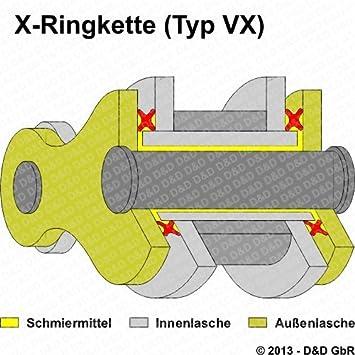 DE07 Kettensatz Yamaha WR 125 R DID VX X-Ring G/&B NIET