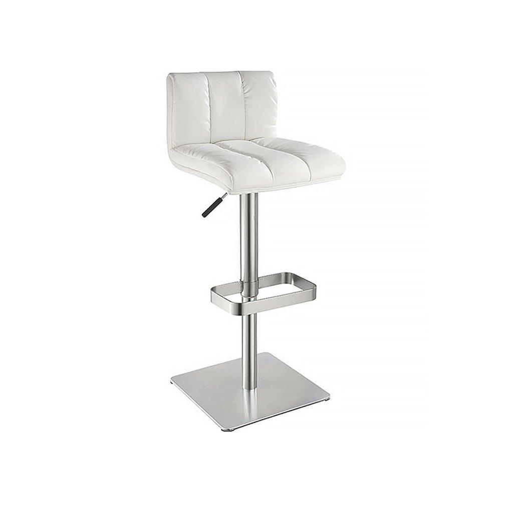 Amazon.de: SjYsXm-Bar stool Gehobener Lederner Weißer Barhocker ...