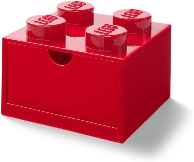 LEGO - Cajón de Escritorio con 4 pomos, apilable, Color Rojo ...