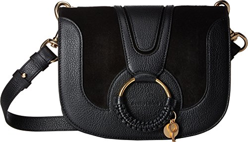 See by Chloe Women's Hana Medium Saddle Bag, Black, One Size ()