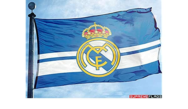 Bandera del Real Madrid 3 x 5 pies Azul España Futbol Bandera de ...