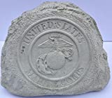 Marine Service Stone Memorial Handmade in USA made of cast stone concrete great for indoor or outdoor 3 color option available(Paint Your Own) For Sale