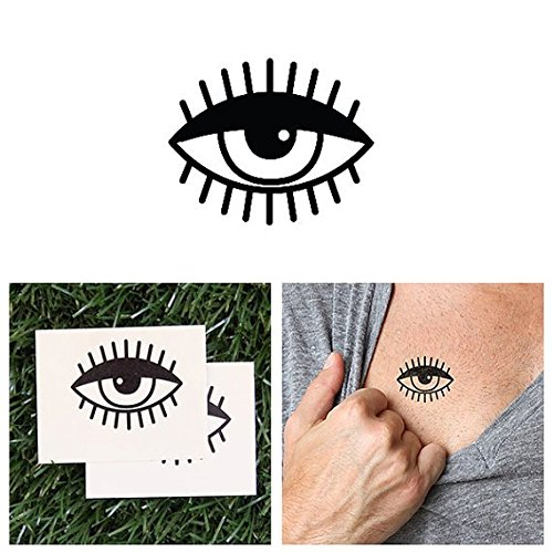 e7435076a4591 Amazon.com : Tattify Eyeball Temporary Tattoo - Monocle (Set of 2) - Other  Styles Available - Fashionable Temporary Tattoos - Long Lasting and  Waterproof : ...