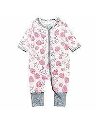 Kids Tales Star Pink Footed Zipper Pajama Sleeper Cotton Romper(Age 4-24M)