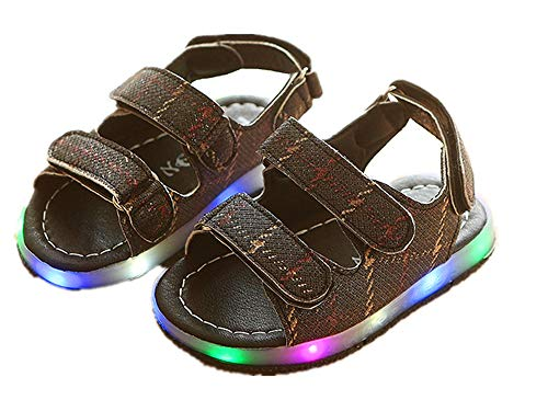 LED Lights Shoes Baby's Sandals Version of Hollow Breathable Soft ()